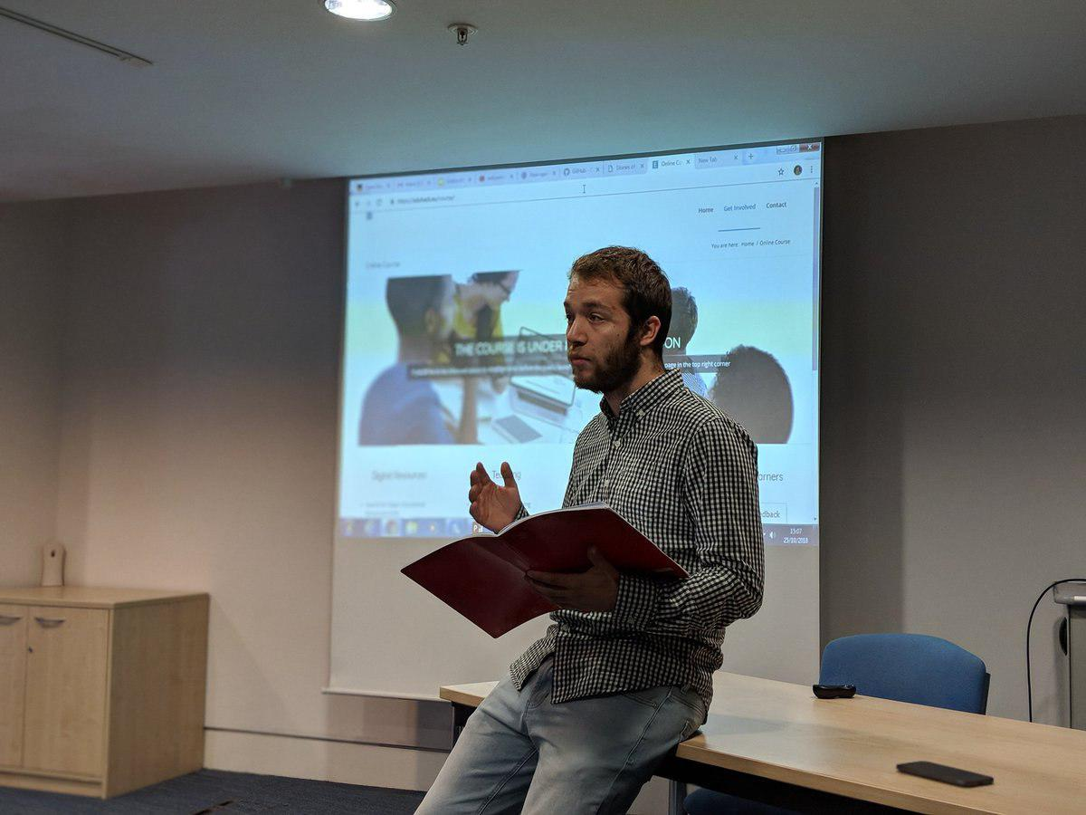 Me, giving the talk