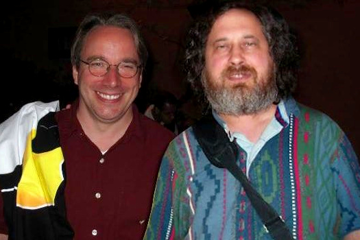 Linus Torvalds e Richard Stallman